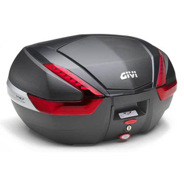 Кофр центральный(верхний) Givi V47 Monokey® 47л накладка карбон, арт: 9123 - Кофры пластиковые/алюминиевые