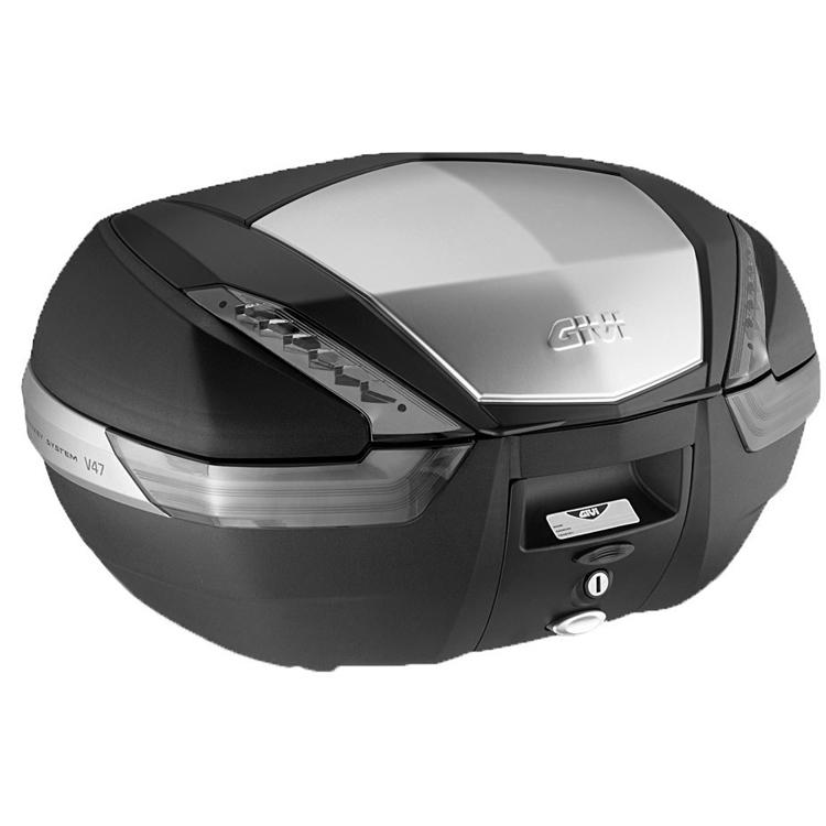 Кофр центральный(верхний) Givi V47 Tech Monokey® 47л серая накладка, арт: 9125 - Кофры пластиковые/алюминиевые