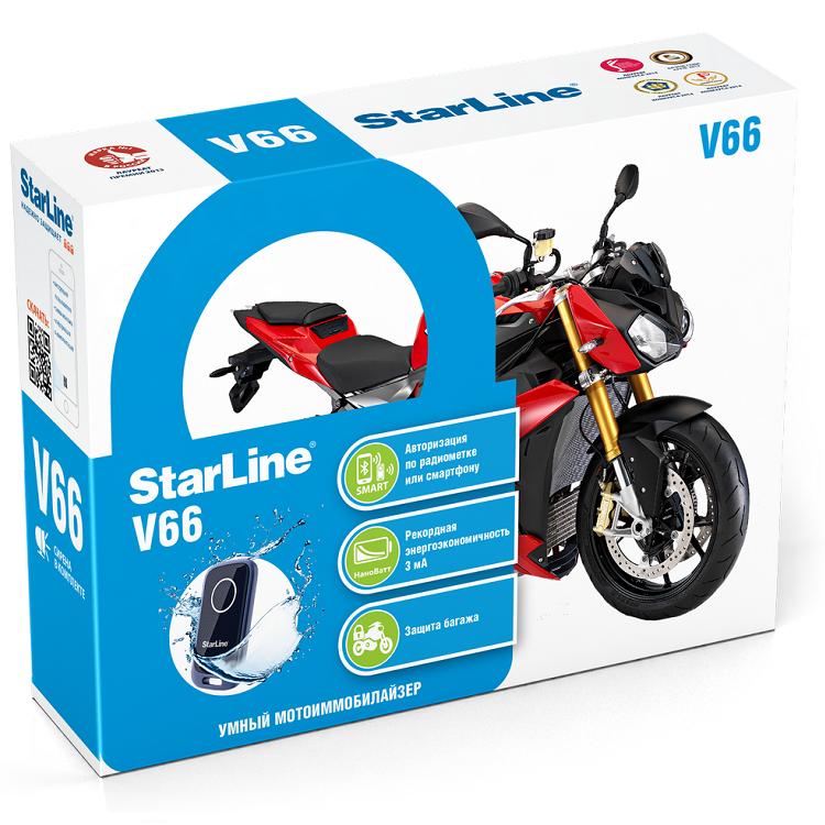 Сигнализация (Мотоиммобилизатор) Star Line V66, арт: 9778 - Охранные системы
