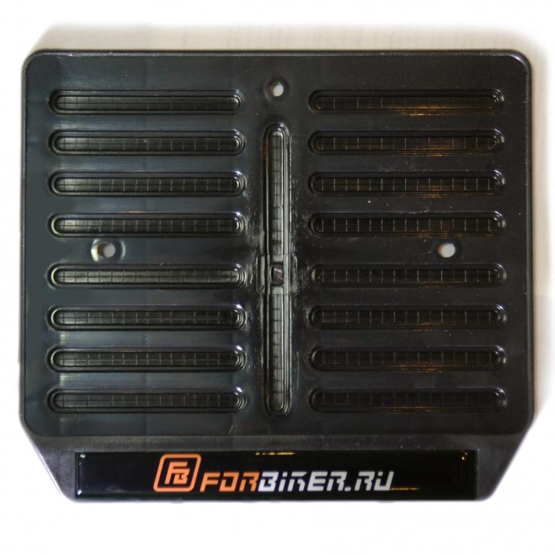 Рамка для крепления номера мотоцикла с логотипом  ForBiker.ru, арт: 9790 - Крепления номера, рамки