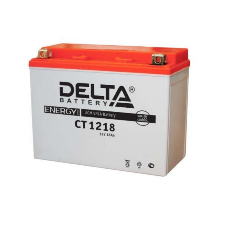 Аккумулятор Delta moto 12V CT 1218/18 а/ч (L+)270А, арт: 9816 - Аккумуляторы Delta